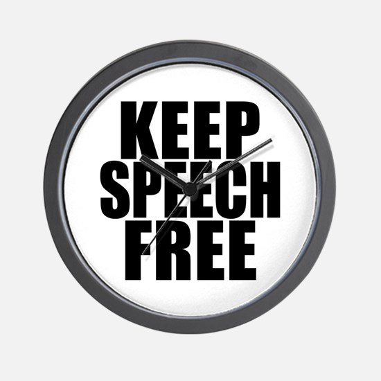 Keep Speech Free Wall Clock