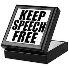 Keep Speech Free Keepsake Box