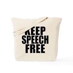 Keep Speech Free Tote Bag