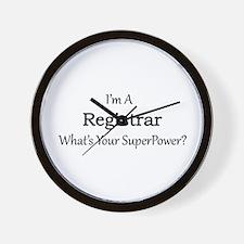 Registrar Wall Clock