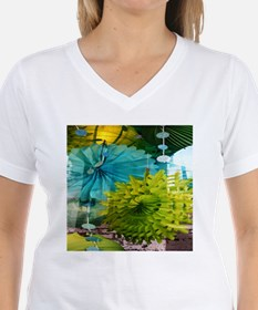 mint lime green teal abstract T-Shirt