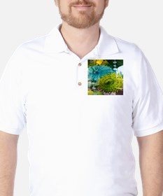 mint lime green teal abstract Golf Shirt