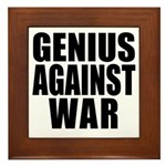 Genius Against War Framed Tile