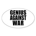 Genius Against War Oval Sticker