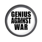 Genius Against War Wall Clock