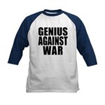 Genius Against War Kids Baseball Jersey