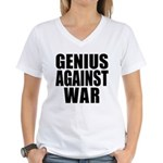 Genius Against War Women's V-Neck T-Shirt