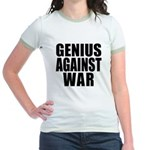 Genius Against War Jr. Ringer T-Shirt