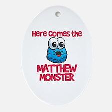 Matthew Monster Oval Ornament