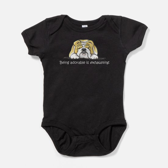 Cute English pointer dog breed Baby Bodysuit