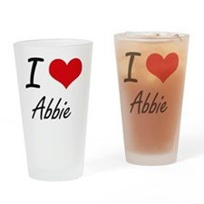I Love Abbie artistic design Drinking Glass