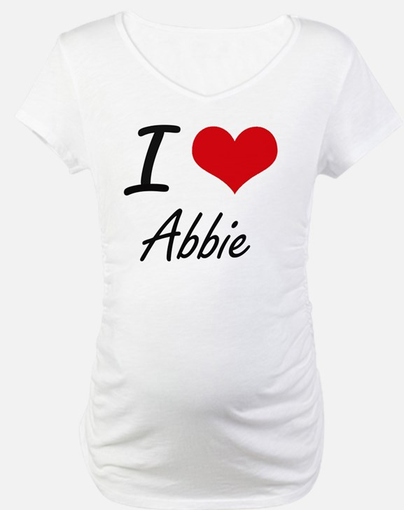 I Love Abbie artistic design Shirt