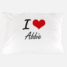I Love Abbie artistic design Pillow Case