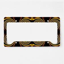 retro contemporary gold swirl License Plate Holder
