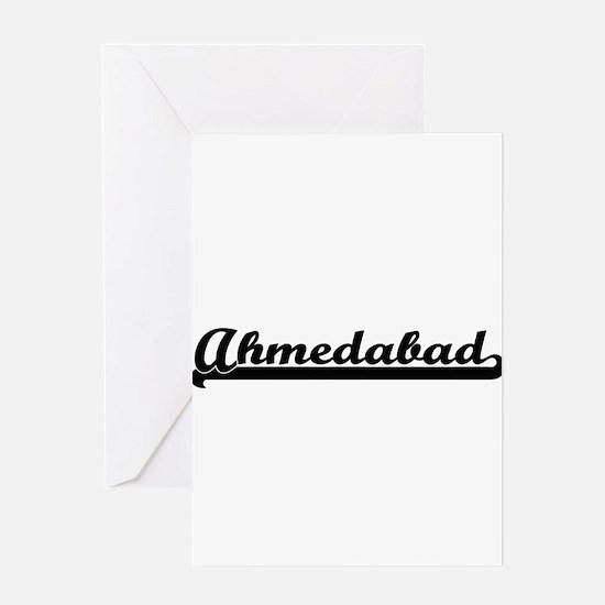 Ahmedabad India Classic Retro Desi Greeting Cards