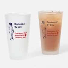 Beekeeper by day Drinking Glass
