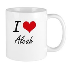 I Love Aleah artistic design Mugs