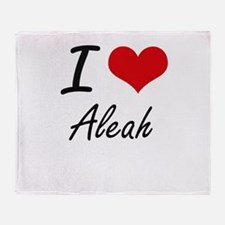 I Love Aleah artistic design Throw Blanket