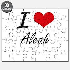 I Love Aleah artistic design Puzzle