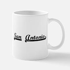 San Antonio Texas Classic Retro Design Mugs