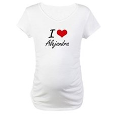 I Love Alejandra artistic design Shirt