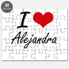 I Love Alejandra artistic design Puzzle