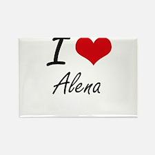 I Love Alena artistic design Magnets