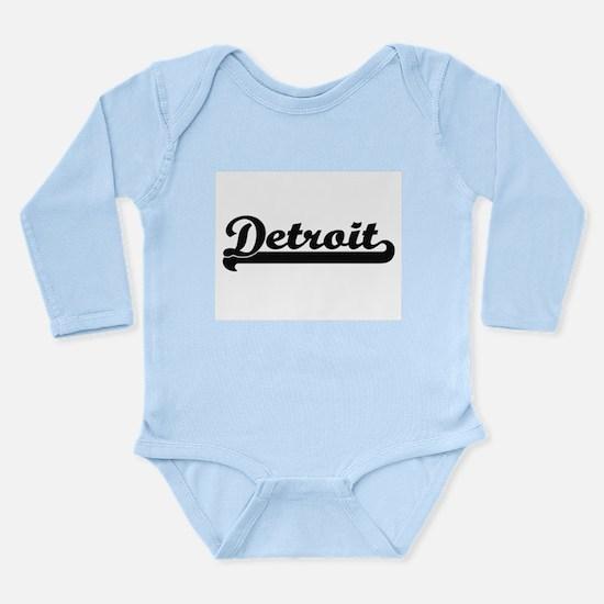 Detroit Michigan Classic Retro Design Body Suit