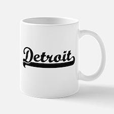 Detroit Michigan Classic Retro Design Mugs