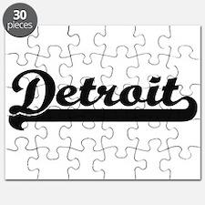 Detroit Michigan Classic Retro Design Puzzle