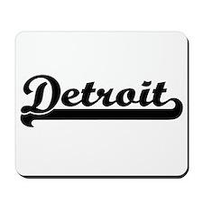 Detroit Michigan Classic Retro Design Mousepad