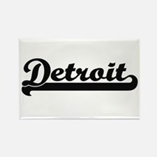 Detroit Michigan Classic Retro Design Magnets