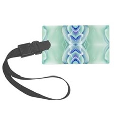 ombre mint blue geometric floral Luggage Tag