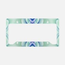 ombre mint blue geometric flo License Plate Holder
