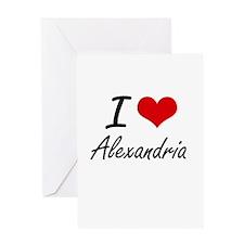 I Love Alexandria artistic design Greeting Cards