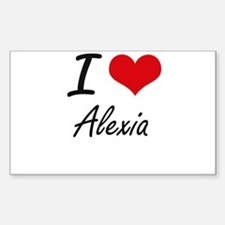 I Love Alexia artistic design Decal