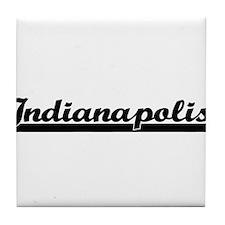 Indianapolis Indiana Classic Retro De Tile Coaster