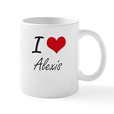 I Love Alexis artistic design Mugs
