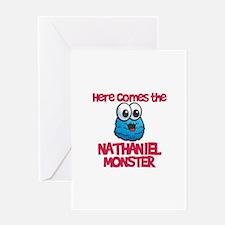 Nathaniel Monster Greeting Card