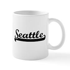Seattle Washington Classic Retro Design Mugs