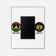 PEACE LOVE UNITY Reggae lion Picture Frame