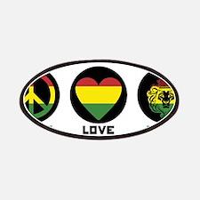 PEACE LOVE UNITY Reggae lion Patch
