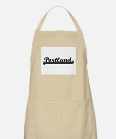 Portland Oregon Classic Retro Design Apron