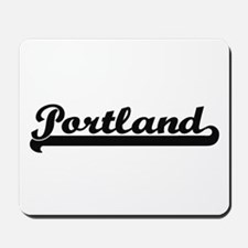Portland Oregon Classic Retro Design Mousepad