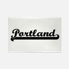 Portland Oregon Classic Retro Design Magnets