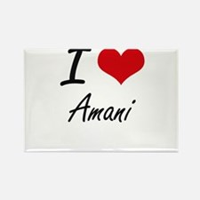 I Love Amani artistic design Magnets