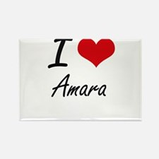 I Love Amara artistic design Magnets