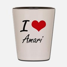 I Love Amari artistic design Shot Glass