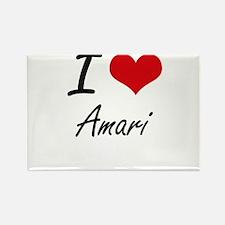 I Love Amari artistic design Magnets