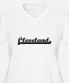 Cleveland Ohio Classic Retro Des Plus Size T-Shirt
